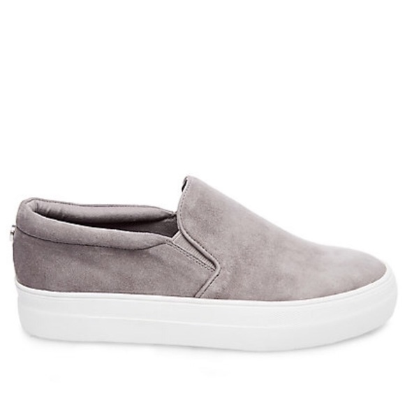 2382499043e Steve Madden Gills grey suede slip on sneakers 9